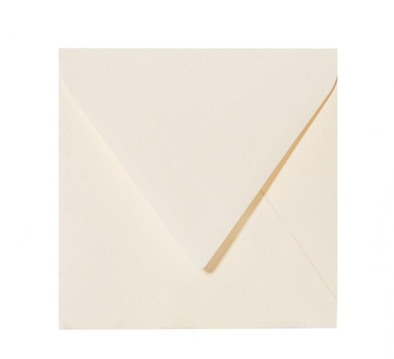 25 quadratische Kuverts Briefumschläge 110 x 110mm 120 g//qm Brief feuchtklebend