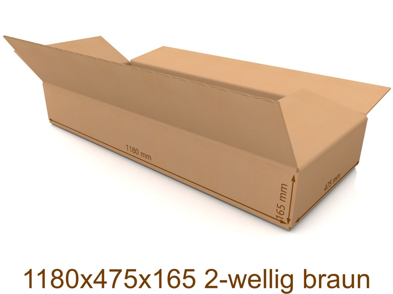 600x400x500 mm SCHACHTELN Karton Faltkarton 2-wellig NEU Braun
