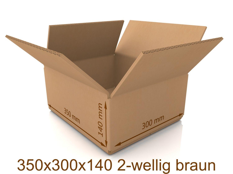 50 Stück 450x350x200 mm Faltkartons Karton Versandschachtel 450 x 350 x 200 TOP