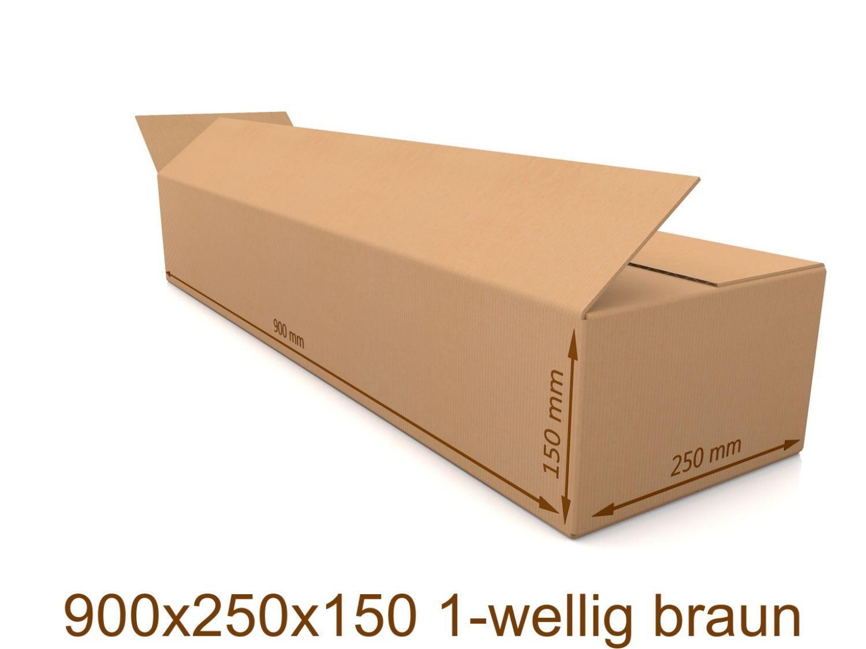 Faltkarton Karton Verpackungen Versandkartons 580x580x250 mm 1-wellig