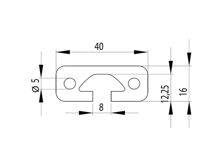 Corte 50-1190mm Perfil Aluminio 80x16s Tipo i Ranura 8 22,50 Eur // M