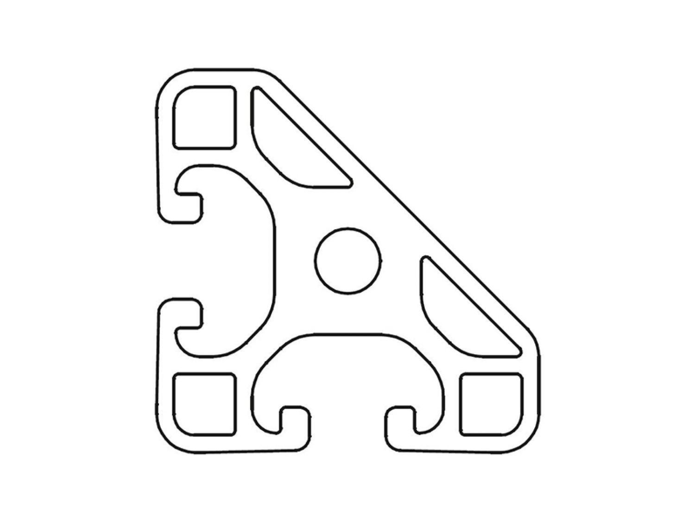 Zuschnitt 50-1190mm Designprofil Aluminiumprofil 40x40 45 Grad I-Typ Nut 8