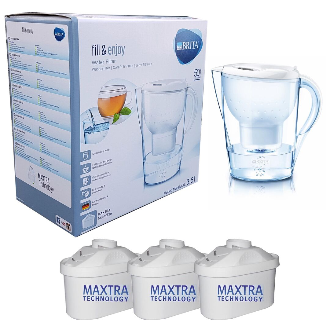 1 Stück Marella XL weiß 3,5 Liter inkl 3 Maxtra Filterkartuschen