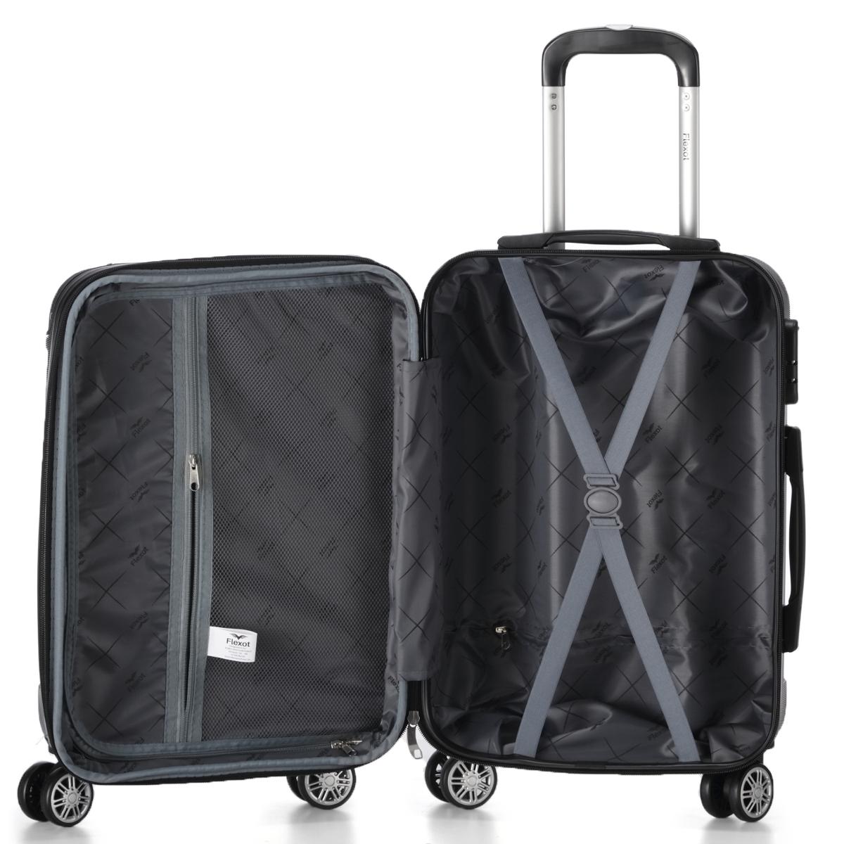 Koffer-Flexot-2045-Hartschalenkoffer-Trolley-Kofferset-Reisekoffer-M-L-XL-Set Indexbild 39