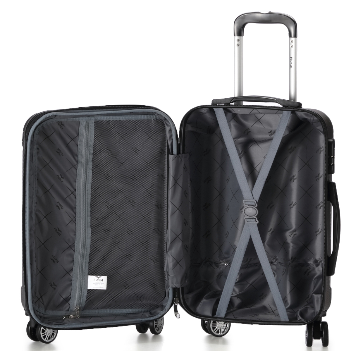 Koffer-Flexot-2045-Hartschalenkoffer-Trolley-Kofferset-Reisekoffer-M-L-XL-Set Indexbild 68
