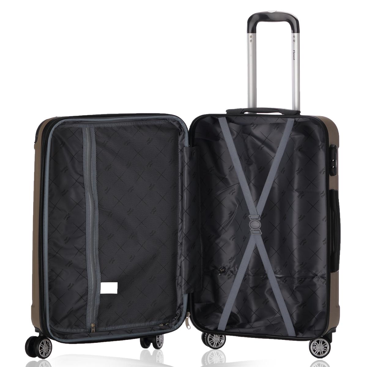 Koffer-Flexot-2045-Hartschalenkoffer-Trolley-Kofferset-Reisekoffer-M-L-XL-Set Indexbild 51