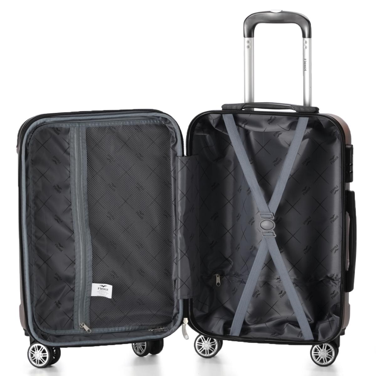 Koffer-Flexot-2045-Hartschalenkoffer-Trolley-Kofferset-Reisekoffer-M-L-XL-Set Indexbild 100