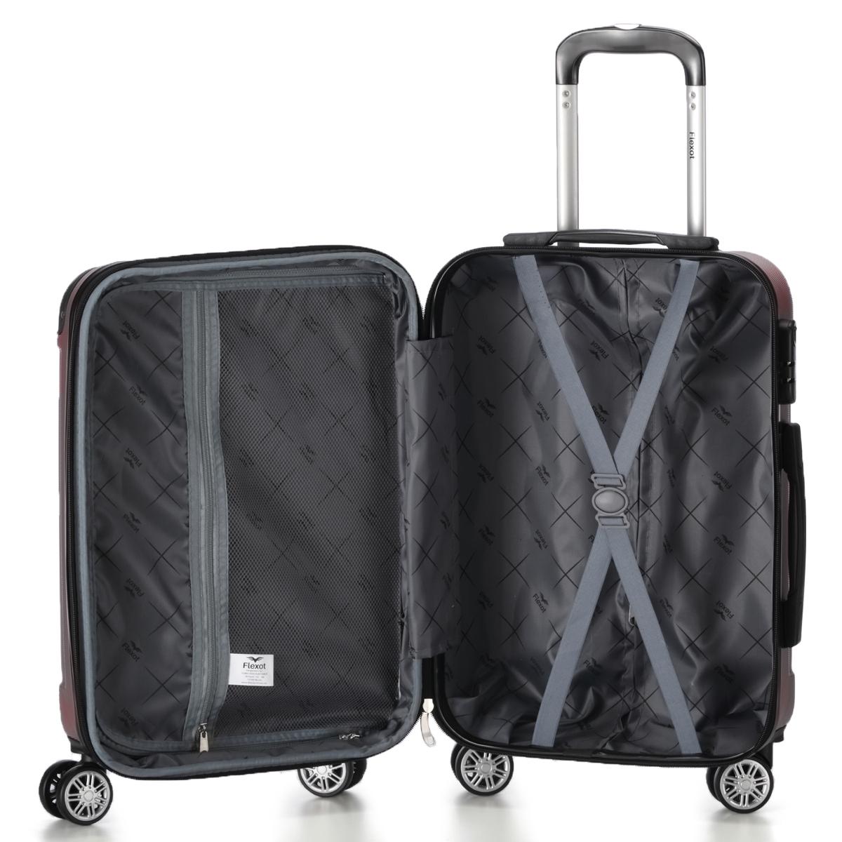 Koffer-Flexot-2045-Hartschalenkoffer-Trolley-Kofferset-Reisekoffer-M-L-XL-Set Indexbild 30