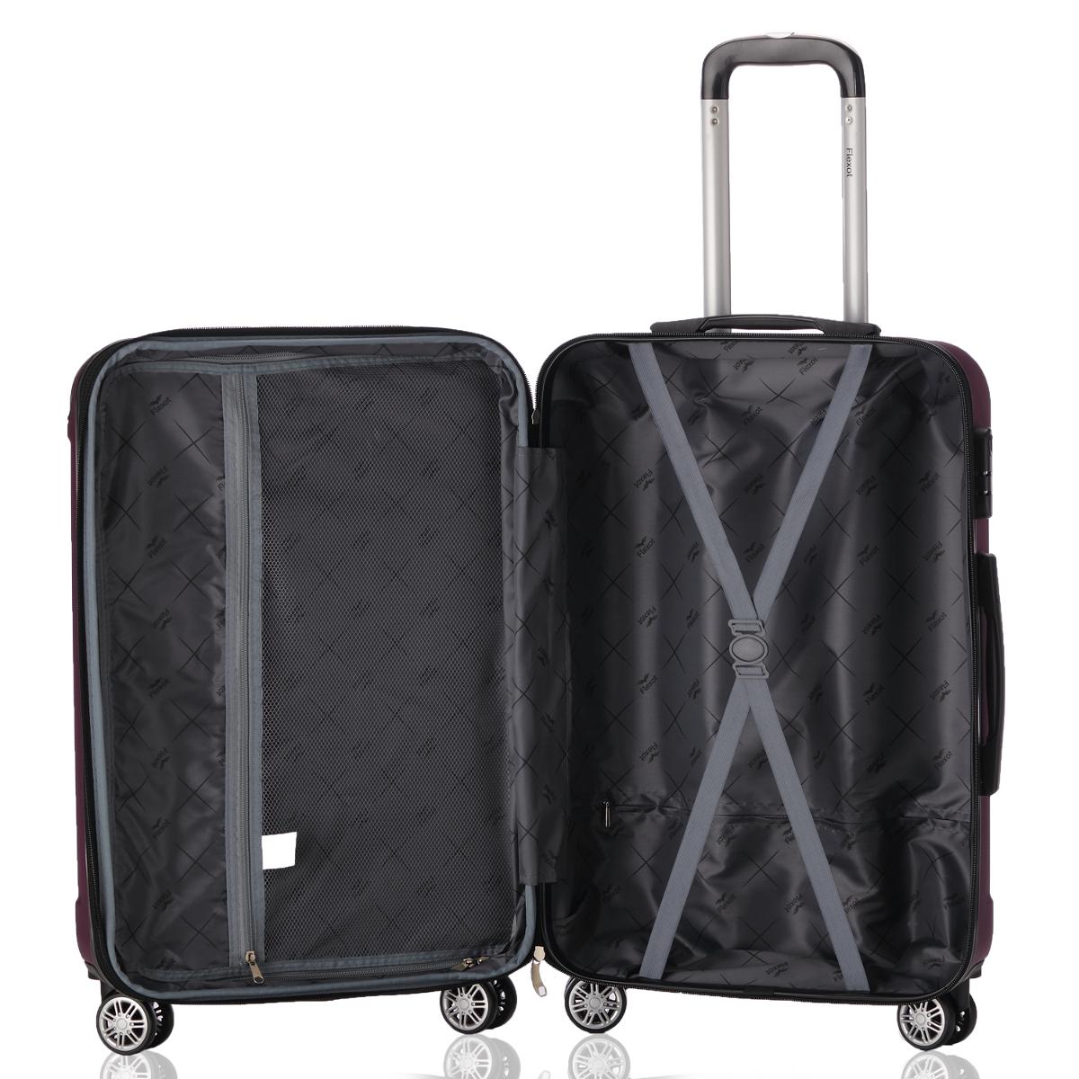 Koffer-Flexot-2045-Hartschalenkoffer-Trolley-Kofferset-Reisekoffer-M-L-XL-Set Indexbild 89