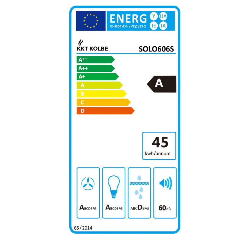 Brume hotte 60 cm Kopffrei Smart App RGBW éclairage Touch Affichage à DEL