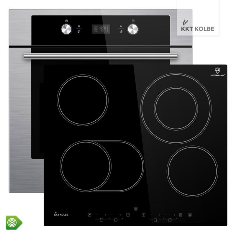 herd set pyrolyse teleskop vollauszug 60 cm autark premium backofen kochfeld ebay. Black Bedroom Furniture Sets. Home Design Ideas