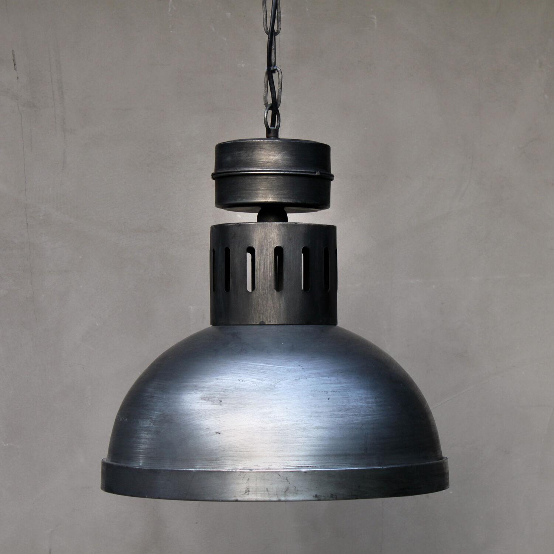 große xl industrielampe schwarz silber vintage retro lampe