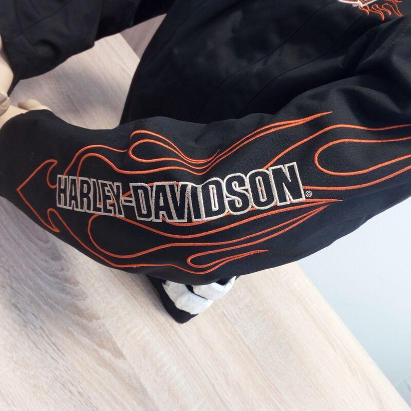 hd nylonjacke flames harley davidson jaket neu ebay. Black Bedroom Furniture Sets. Home Design Ideas