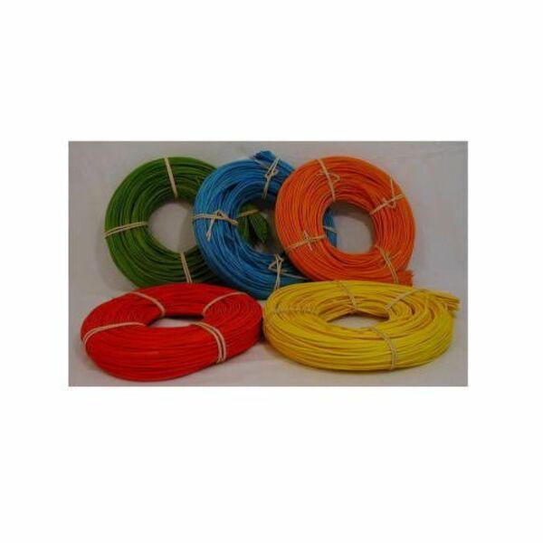 Peddigrohr 500g Gelb Orange Rot Blau Grün In 2,25 Und 3,0