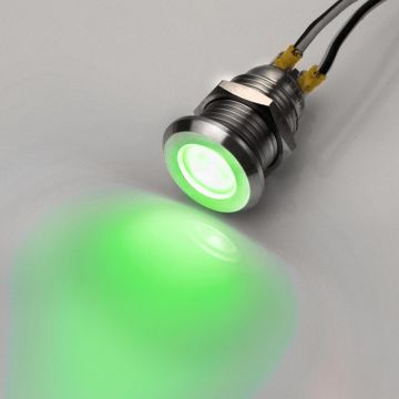 Ø 8mm LED-Kontrollleuchte 12V Signalleuchte grün