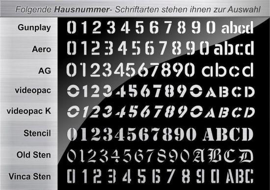 Moderne Hausnummern Edelstahl moderne edelstahl hausnummer anthrazit nummernschild türschild