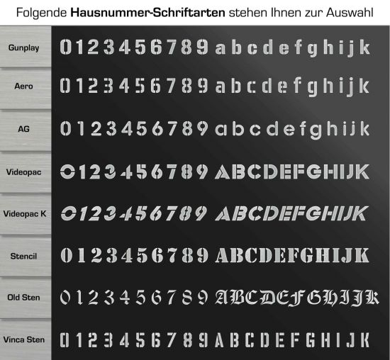 Moderne Hausnummern Edelstahl moderne hausnummer aus edelstahl alle nummern und buchstaben grau 3