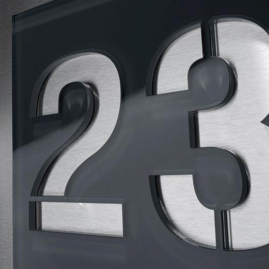 Moderne Hausnummern moderne edelstahl hausnummer anthrazit nummernschild türschild