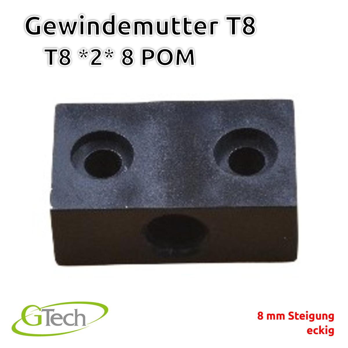T8-Gewinde-Trapezgewinde-Gewindestange-Edelstahl-Z-Achse-CNC-3D-Druck Indexbild 70