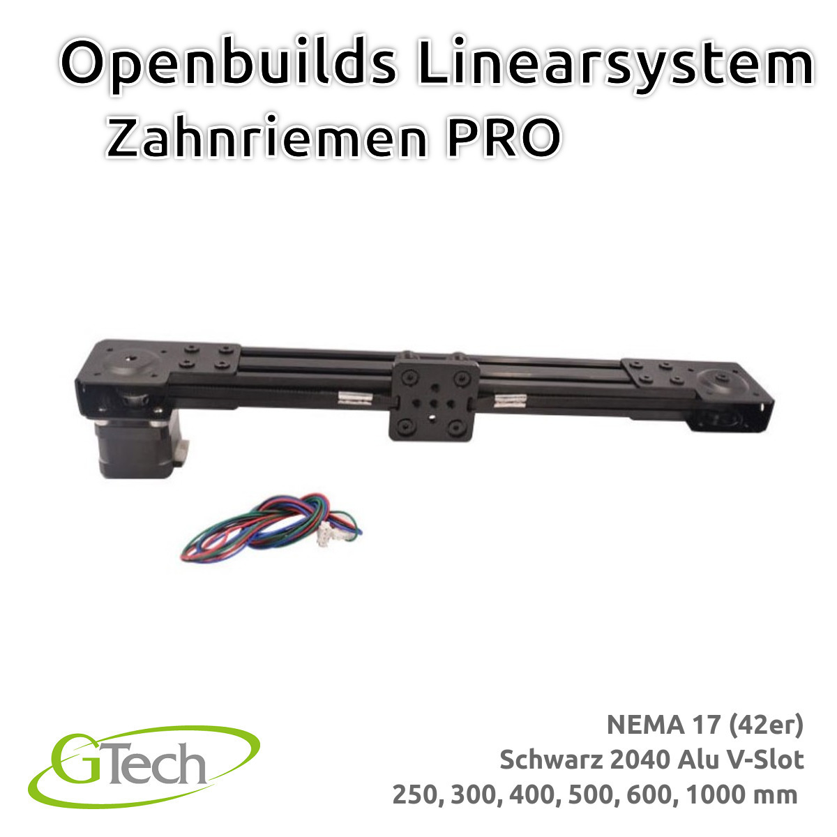 Indexbild 7 - Openbuilds Linearsystem Zahnriemen 2040 V Slot NEMA 17