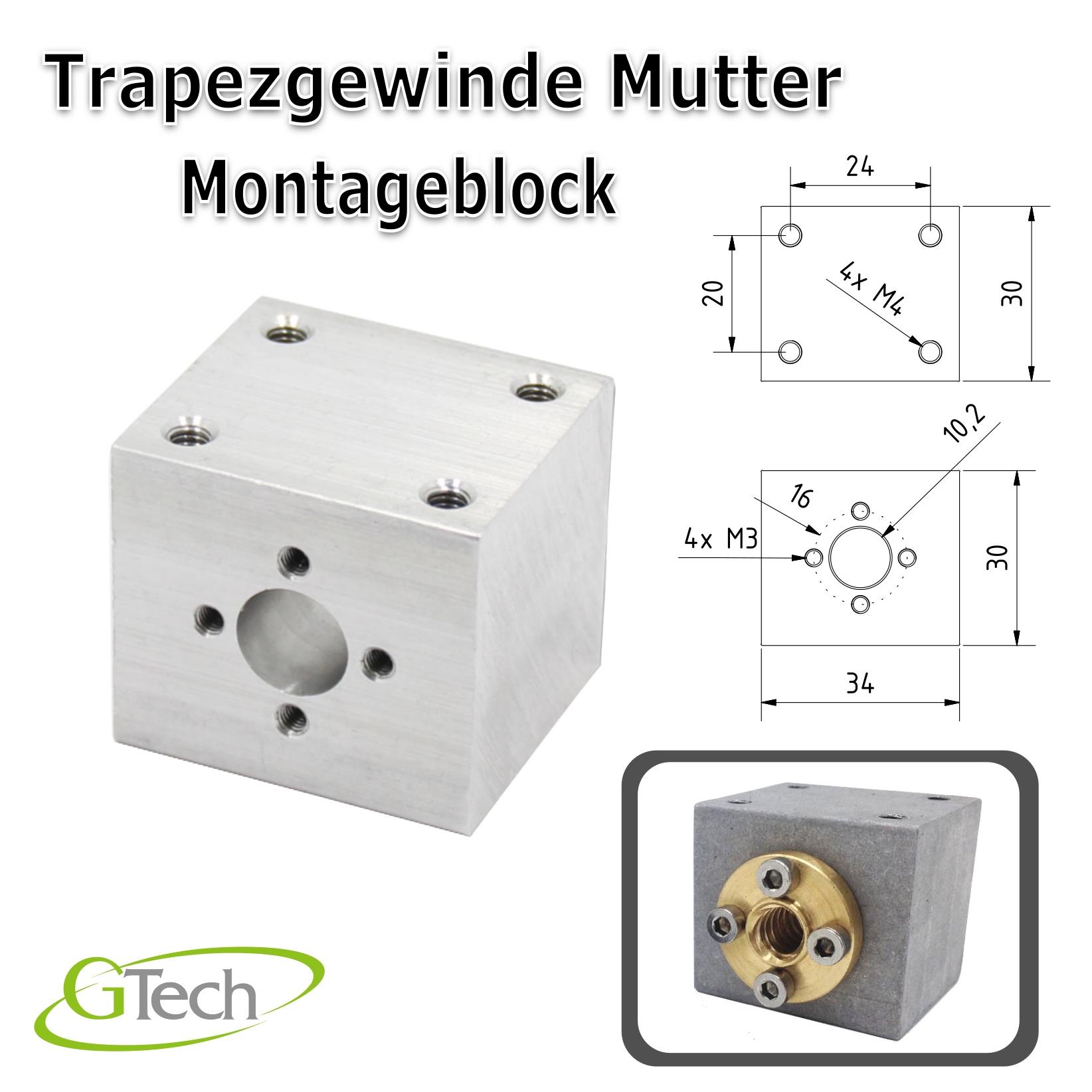 T8-Gewinde-Trapezgewinde-Gewindestange-Edelstahl-Z-Achse-CNC-3D-Druck Indexbild 11