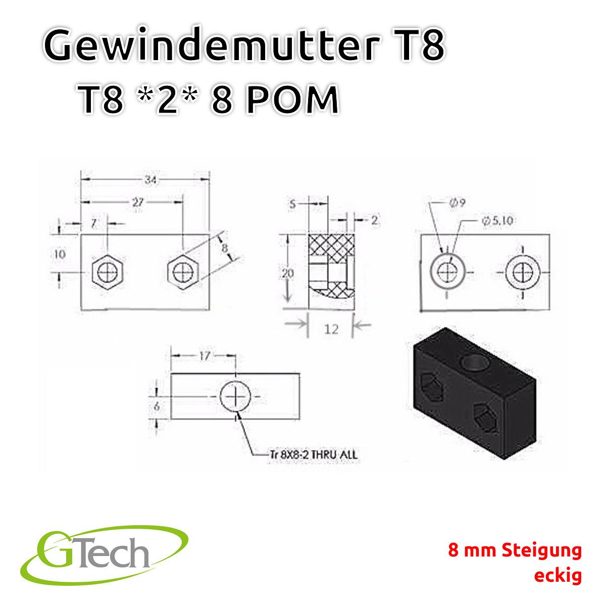 T8-Gewinde-Trapezgewinde-Gewindestange-Edelstahl-Z-Achse-CNC-3D-Druck Indexbild 71