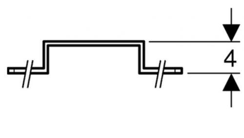 Geberit Mepla Montageplatte 10 oder 12cm für 2 Armaturenanschlüsse 601.731.00.1