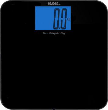 G/&G A7 180kg AAA Gro/ßdisplay Personenwaage Digitalwaage Schwarz