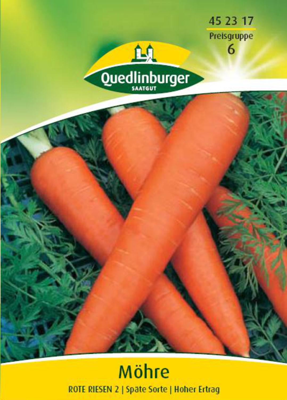 Winterfest Saatgut Karotte//Möhre,Rote Riesen 2 Sämereien,P.78 Samen,Gemüse