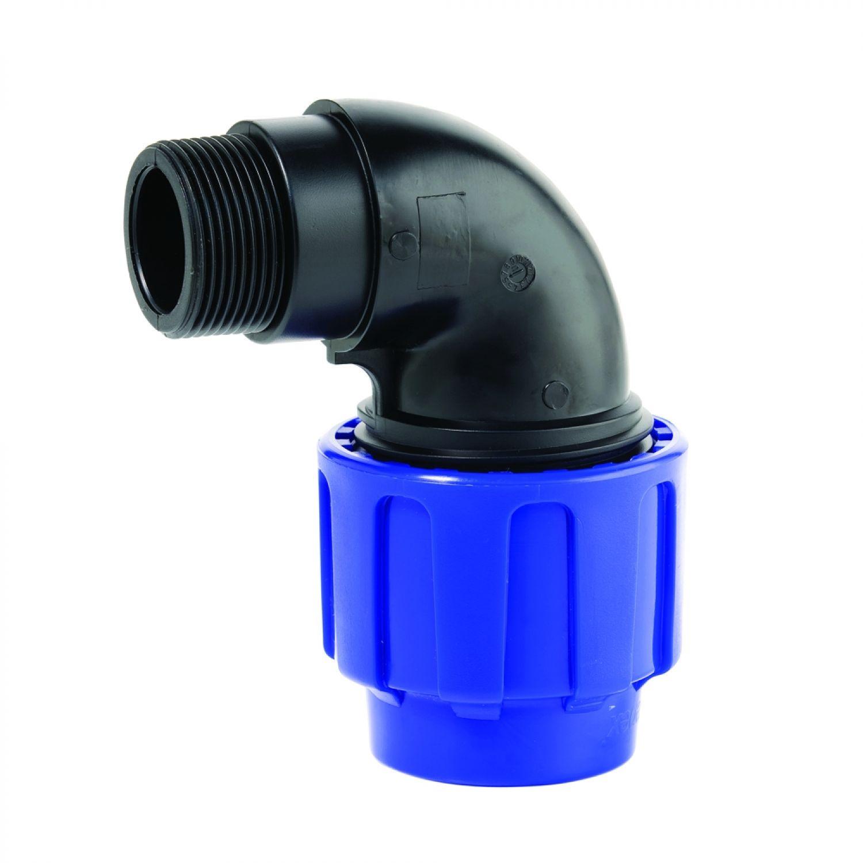 90° Winkel 2 Verschraubungen 20 x 20 PP PE Rohr Verschraubung Trinkwasser