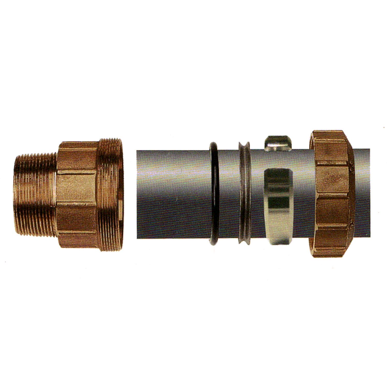"Kupplung AG 32x1/"" Messing Pe Verschraubung Rohr DVGW Wasser Fitting Verbinder"