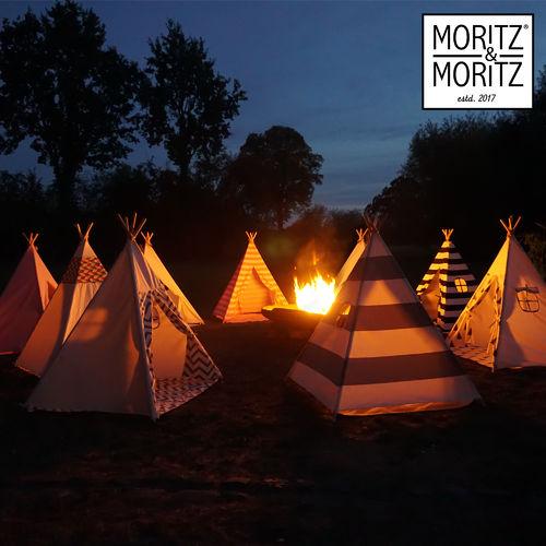 Moritz /& Moritz 4 Stangen Tipi schwarz gestreift Indianerzelt Baumwolle