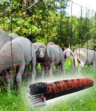 50m Elektronetz TitanNet 108cm 2-Spitz Schafzaun Wolfsabwehrnetz Weidezaun Netz