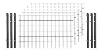 Stabmattenzaun anthrazit 75 cm Gartenzaun Pfosten inkl 10-50 m wählbar