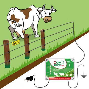 Weidezaungerät Cowboy N12000 Netzgerät Weidezaun Elektrozaungerät Weidegerät NEU