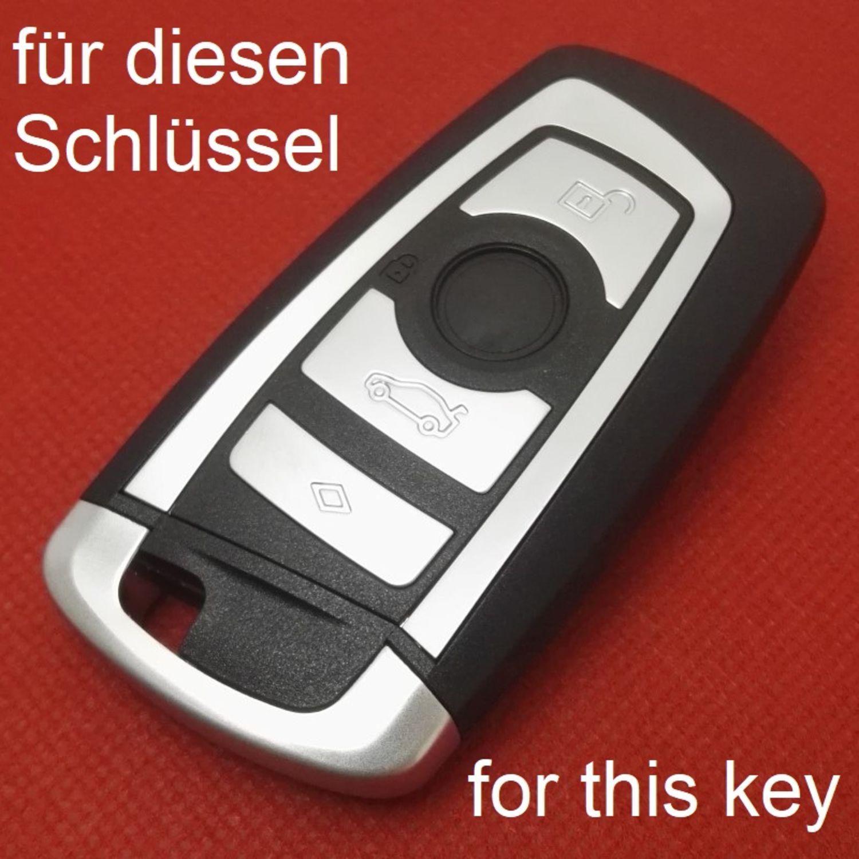 Schlussel Hulle Cover Bmw 3 Tasten Silikon Schwarz Weiss Keyless