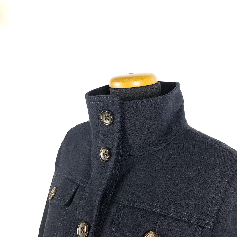 Marc O Polo Jacke Damen Gr. 38 Blau Wolle Wolljacke Blazer Kurz ... aa007b05e0