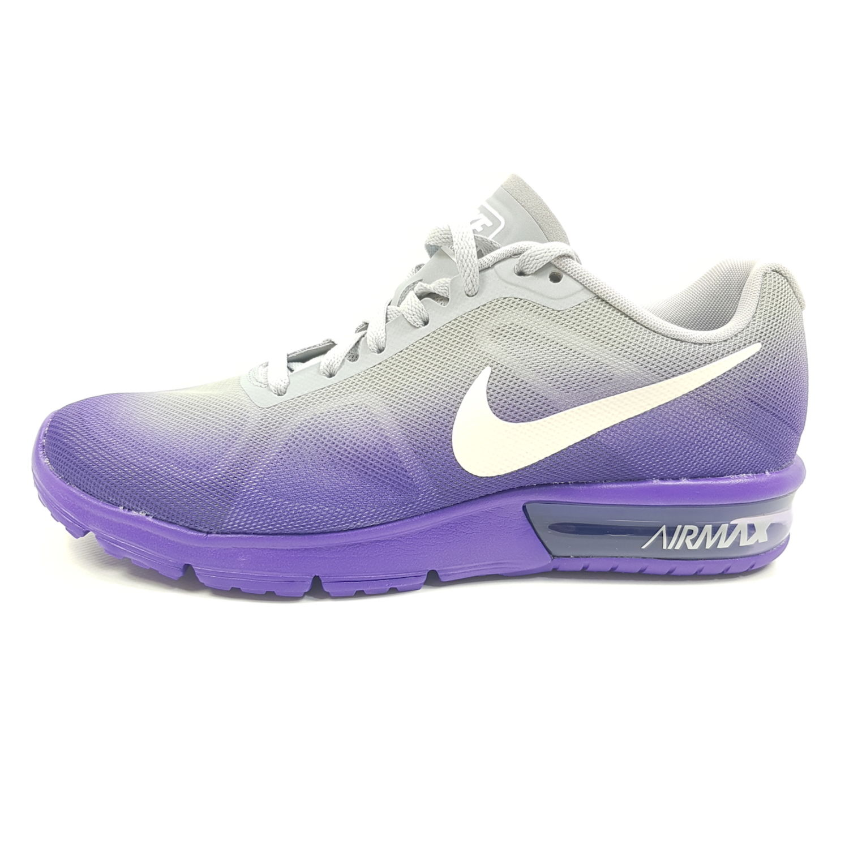 Details zu Nike Air Max Sequent Damen EU 38 38,5 (UK 4,5 5) Lila Grau Sneaker Laufschuhe