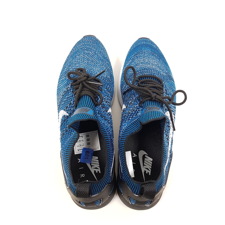 best loved 6d2f2 3d91c Nike Air Zoom Mariah Flyknit Racer Herren Gr EU 42,5 (UK 8) Blau Weiß  Laufschuhe