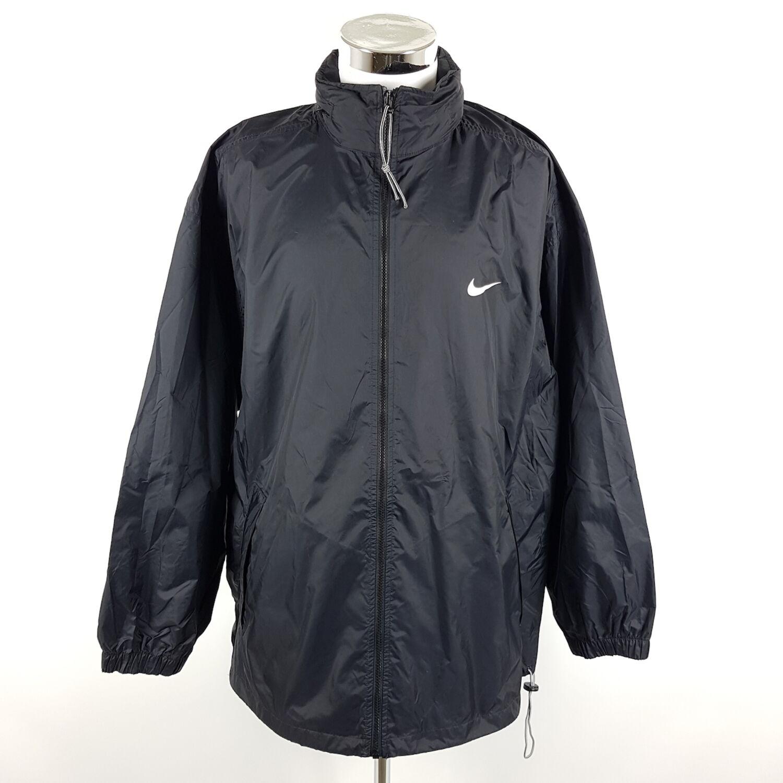 Vintage Nike Regenjacke Herren XXL Schwarz Weiß Retro Jacke