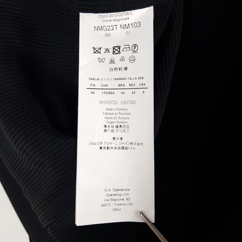 Armani Collezioni Blazer Damen Gr. DE 38 (IT 44) Schwarz Gestreift Long  Jacke d6c31dc7f5