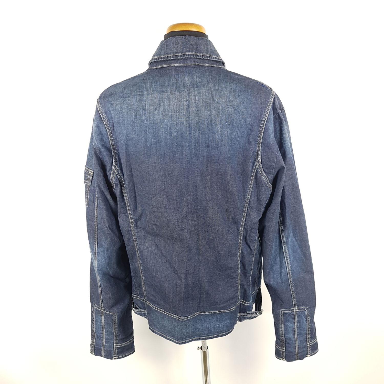 Details zu Versace Jeans Couture Jeansjacke Damen XL Blau Denim Jacke