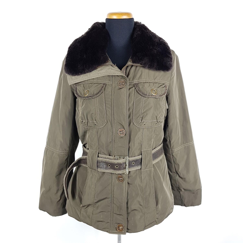 Damen Parka Grün Lederbesatz Kaninchenfell 36 Jacke Kragen Pelz Details Milestone Gr zu Ku5l1Tc3FJ