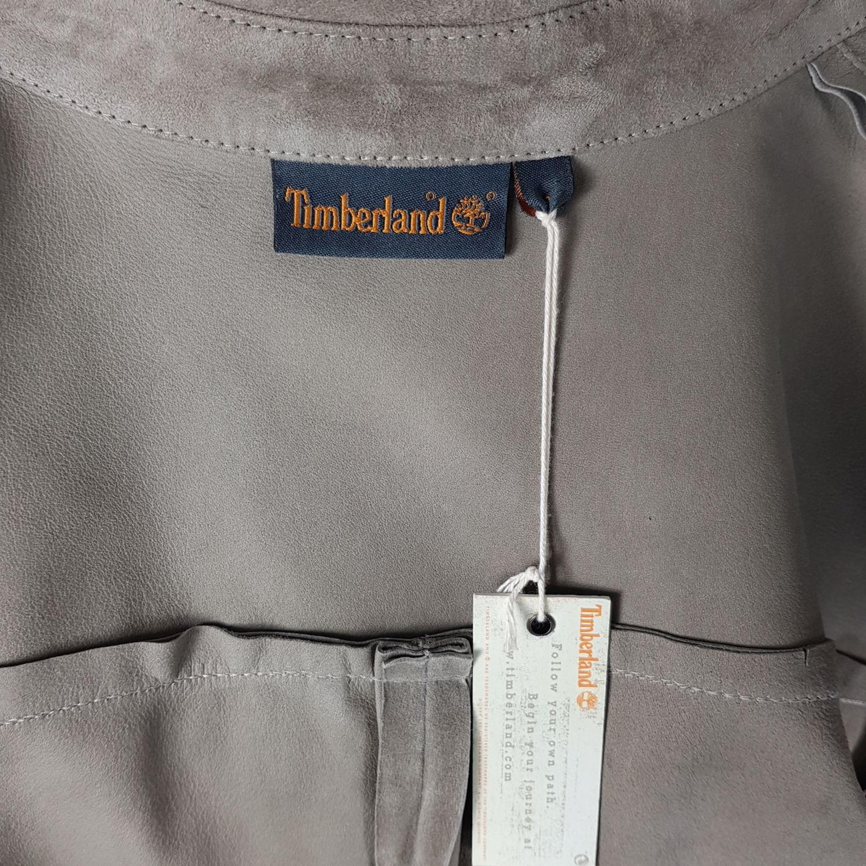 Details zu Timberland Leder Bluse Damen S Braun Langarm Velour Wildleder Hemdbluse