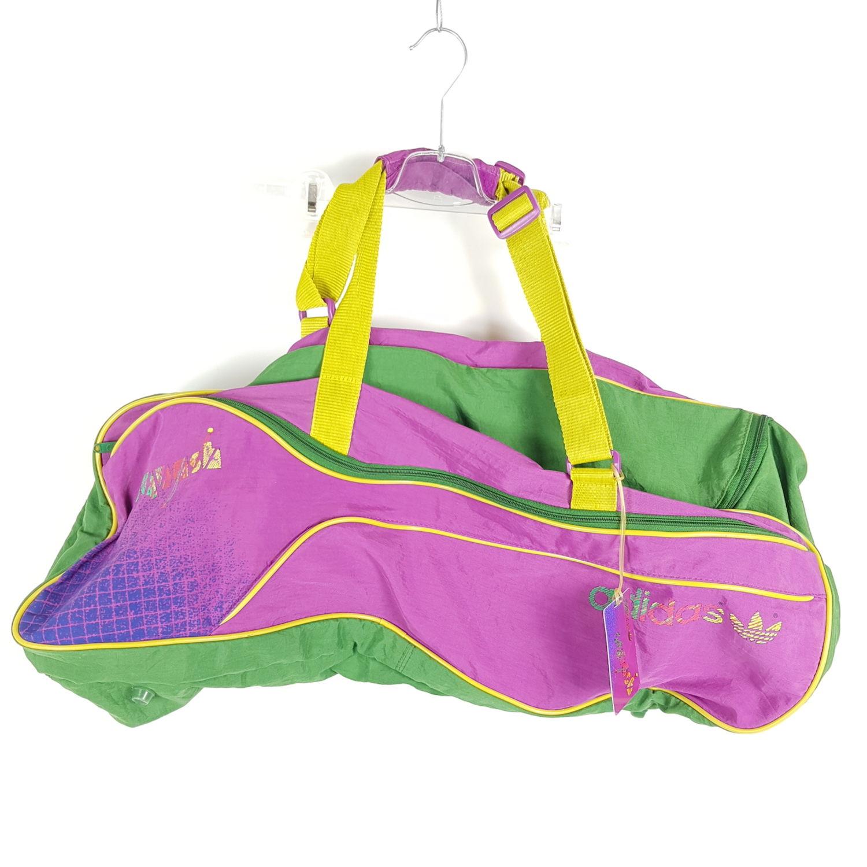 00e1ce042e639 Vintage Adidas Squash Sporttasche Mehrfarbig Retro 80er Gymbag Tasche