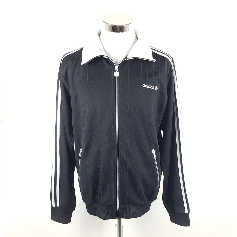 Details zu Adidas Firebird Trainingsjacke Herren L Schwarz Weiß Gestreift Trefoil Jacke