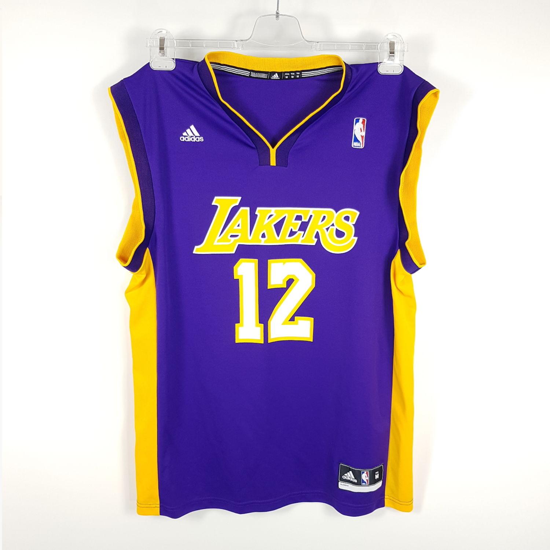 Adidas Los Angeles Lakers Trikot Herren M Lila Gelb 12