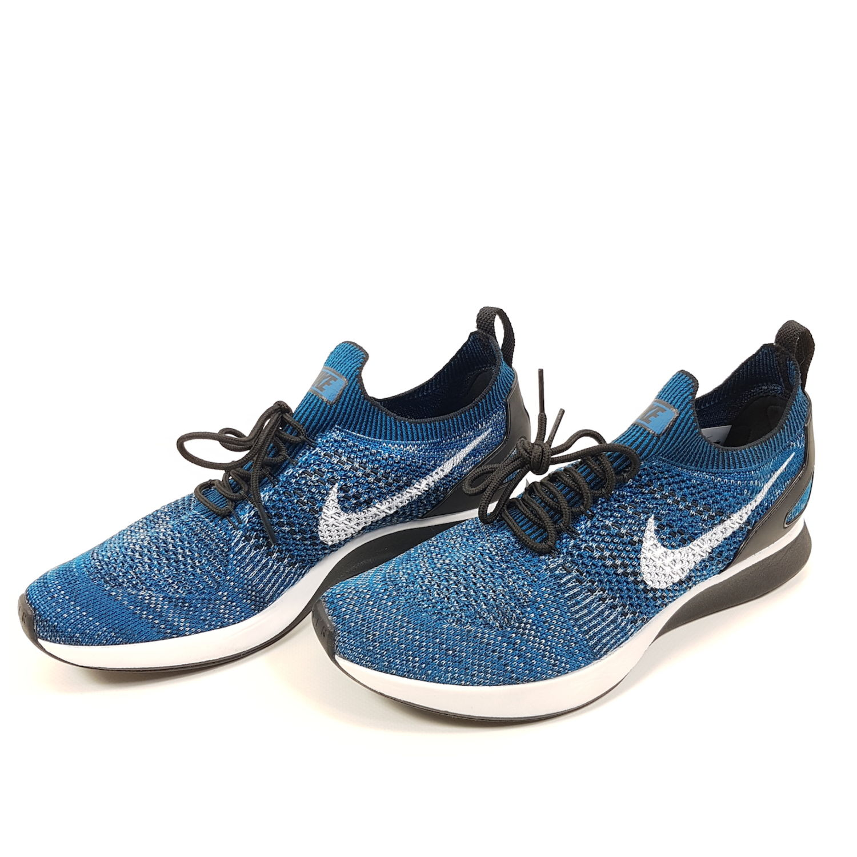 best loved fe4ca f93d5 Nike Air Zoom Mariah Flyknit Racer Herren Gr EU 42,5 (UK 8) Blau Weiß  Laufschuhe
