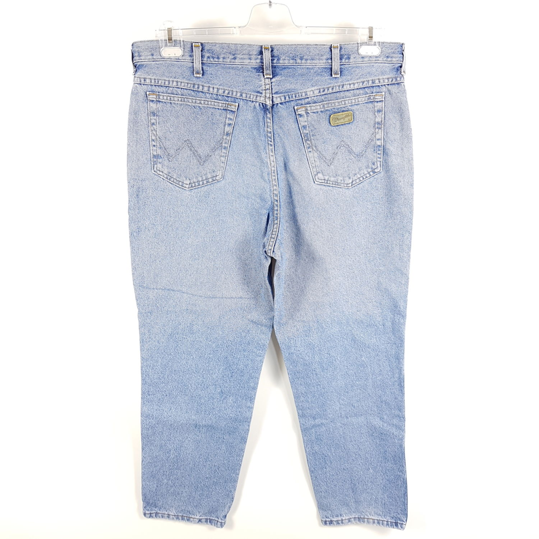 Details zu Wrangler Jeans Ohio Herren W38 L30 Blau Tapered Vintage Stonewash