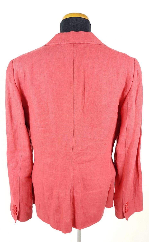 Armani Collezioni Leinen-Blazer Damen Gr. IT 44 (DE 38-40) Rot Leichte Jacke cc4f5c16ab